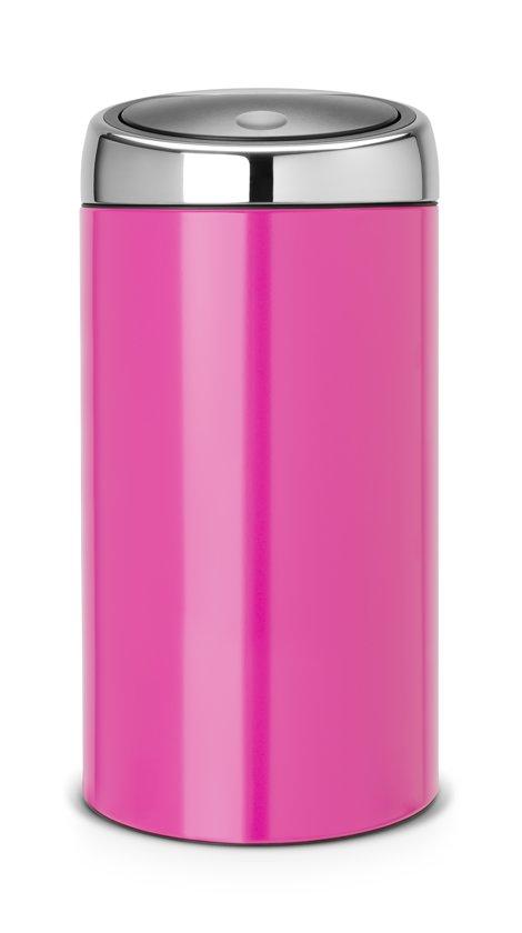 Prullenbak Brabantia Touch Bin 45 Liter.Brabantia Touch Bin Prullenbak 45 L Radiant Rose