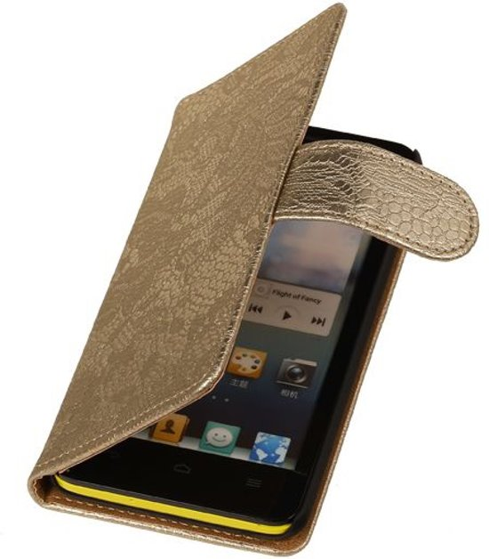Lace Goud Huawei Ascend G6 - Book Case Wallet Cover Hoesje