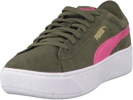Pumas Plate-forme Vikky Chaussures De Sport D'olive Vr Femmes BBylZ