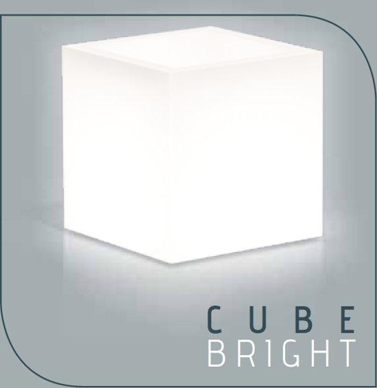 monacis verlichte bloempot 40x40xh40 cm cube pot bright led multicolor
