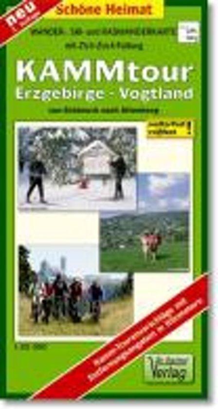 KAMMtour Erzgebirge - Vogtland von Schöneck nach Altenberg 1 : 35 000