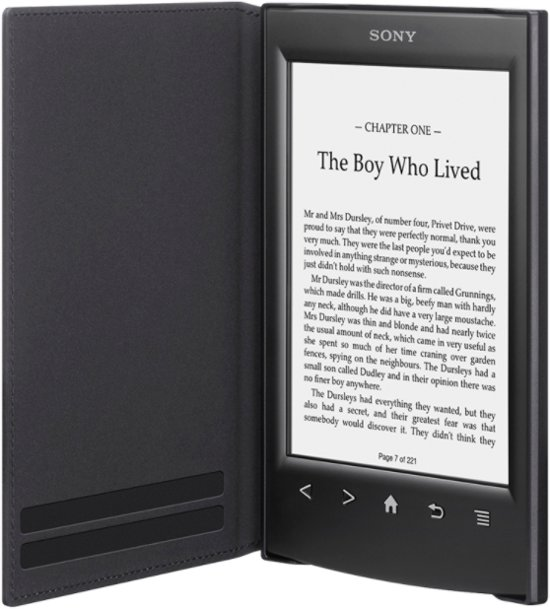 Sony PRSA-SC22 Standard Cover For T1 & T2  (Black)
