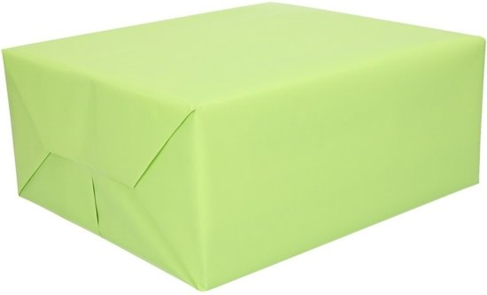 Kadopapier lichtgroen - 200 x 70 cm - cadeaupapier / inpakpapier