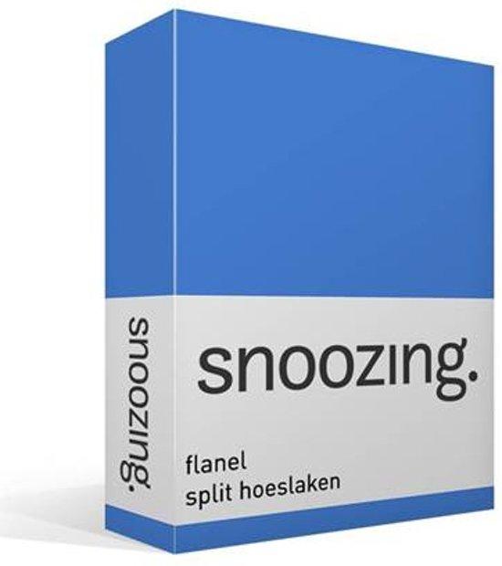 Snoozing - Flanel - Split-hoeslaken - Lits-jumeaux - 200x200 cm - Meermin