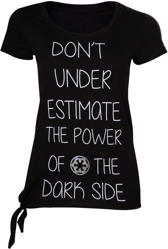 Star Wars Rogue One - Dont Underestimate the Dark Side Female T-shirt - L