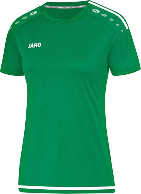 Jako Striker 2.0 Dames T-Shirt - Voetbalshirts  - groen - 44