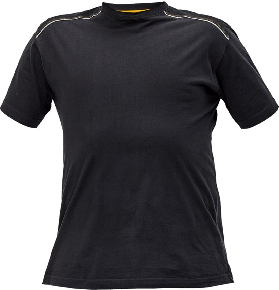 Knoxfield T-shirt antraciet/geel, maat L