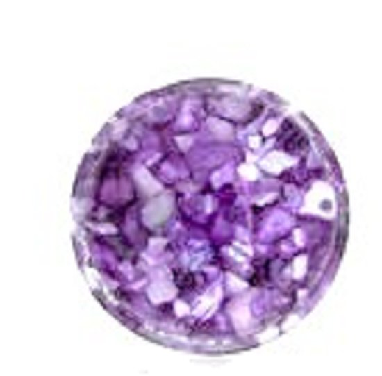 """MY iMenso """"lavender in resin"""" 14 -0544  crushed shell Insignia"""