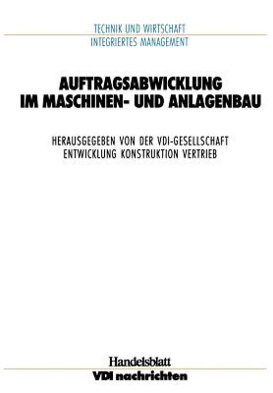 Auftragsabwicklung im Maschinen- und Anlagebau