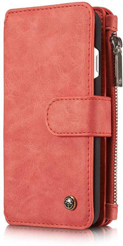 CaseMe iPhone 7 Luxe Portemonnee Hoesje - uitneembaar met backcover (rood) in Lutjegast