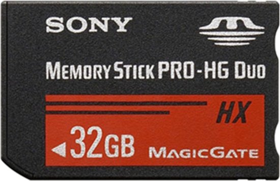 32GB Memory Stick Pro HG Duo 50MB/sec