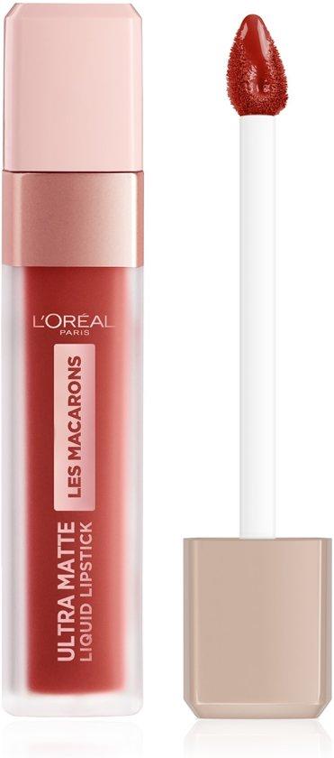 L'Oréal Paris Les Macarons Langhoudende Matte Lipstick - 834 Infinite Spice – Nude – 6,7 ml