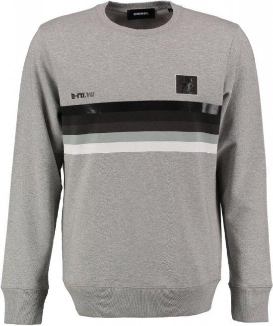 Diesel grijze loose fit sweater - Maat S