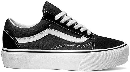 Maat Dames Old 37 Zwart Skool Vans Platform Sneakers Bv7fqfwY