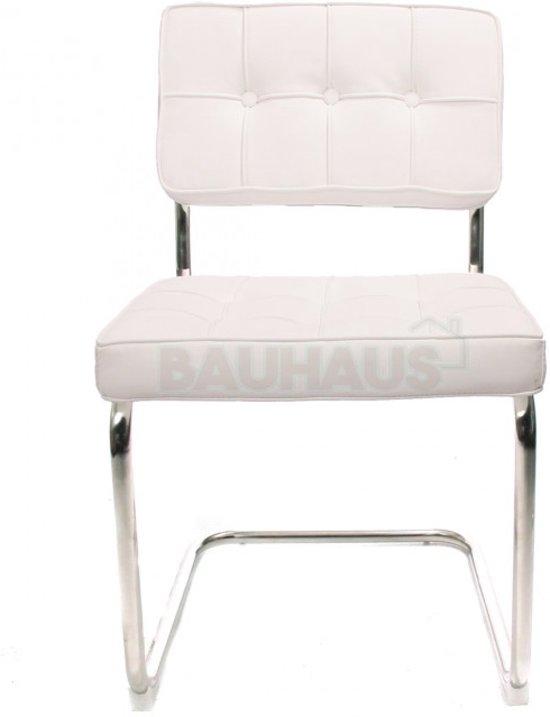 Eetkamerstoel Bauhaus Zwart.Bol Com Bauhaus Stoel Wit