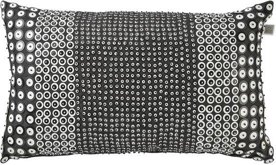 Sierkussen Carpiano 30x50 cm zwart