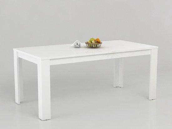 Hoogglans Witte Tafel : Bol eetkamertafel solis witte hoogglans cm