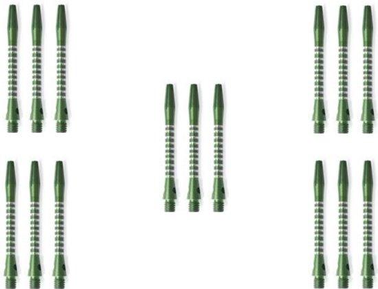 5 Sets - Abbey Darts Shafts Aluminium - Groen - medium - darts shafts