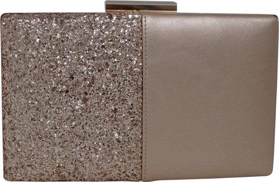 Jessidress Elegante Cocktail Envelop tas met pailletten - Champagne