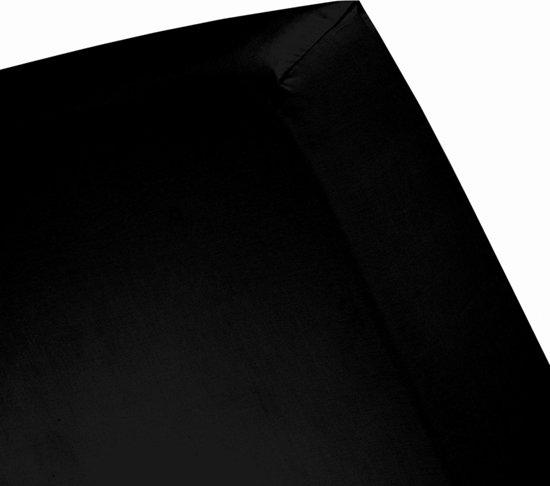 Cinderella - Hoeslaken (tot 25 cm) - Jersey - 80/90x200 cm - Black