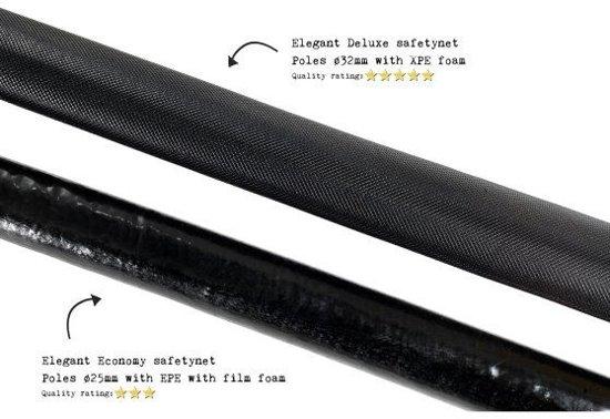 EXIT Elegant Premium Trampoline à 253 cm met Economy Veiligheidsnet