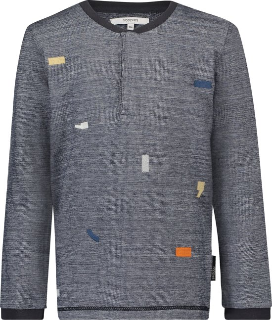 Noppies shirt - Charcoal - Maat 122