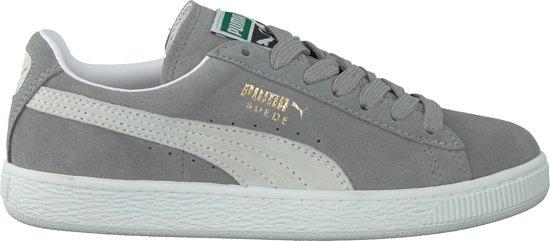 Daim Chaussures Puma Classique Gris Blanc CNArE5