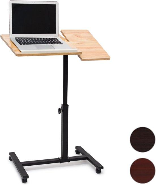 bol | relaxdays laptoptafel hoogte verstelbaar met wieltjes