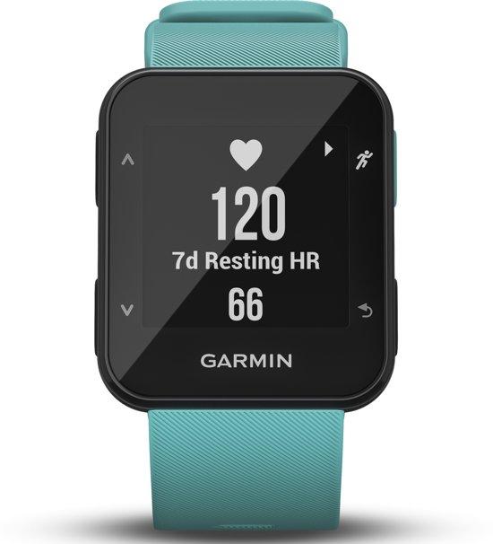 Garmin Forerunner 30 turquoise - GPS hardloophorloge met polshartslag meting - turquoise