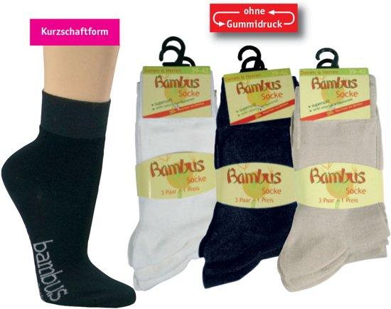 2ee31ab1975 bol.com | Bamboe sokken – korte schacht - 3 paar - zwart - maat 39/42