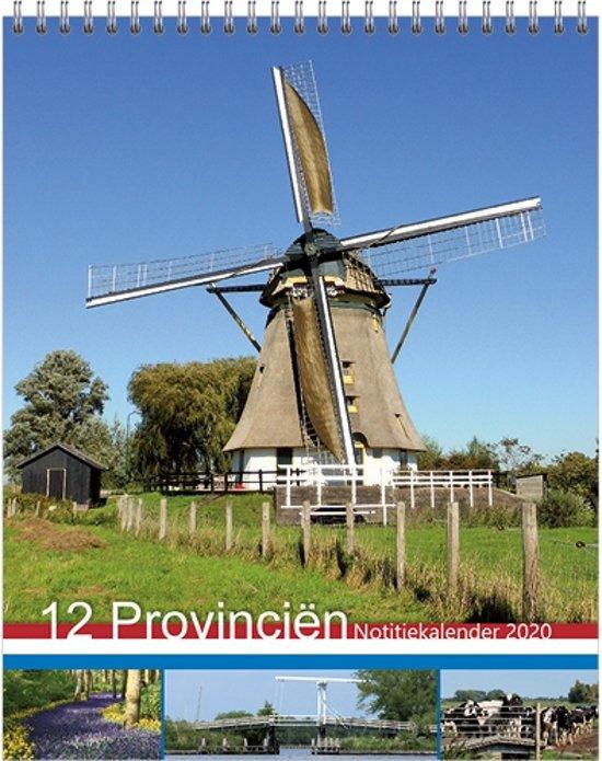 Maandnotitiekalender 2020 '12 Provinciën'