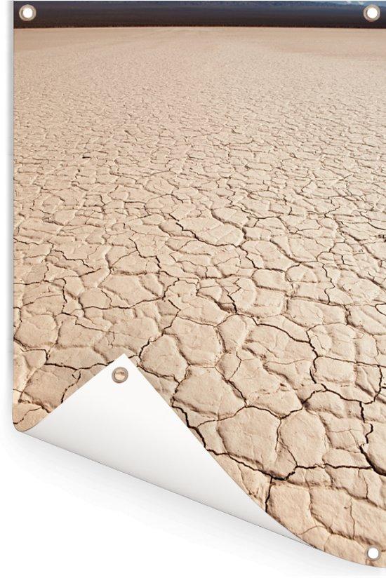 Close-up beeld van de vorm van een zoutvlakte in El Leoncito in Argentinië Tuinposter 60x90 cm - Tuindoek / Buitencanvas / Schilderijen voor buiten (tuin decoratie)
