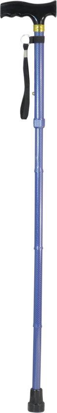 Aidapt - wandelstok - opvouwbaar -  ergonomische handgreep - blauw carbon look