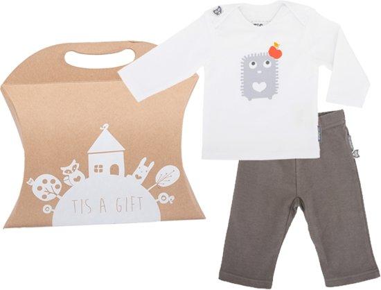 Kraamcadeau: Egel T-shirt met broekje, mt 62/68
