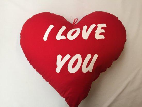 Bolcom Kussen Hart 60 Cm I Love You