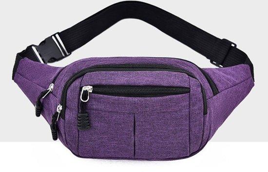 Pure kleur multifunctionele casual zakken waterdichte borst tas taille sport tas (paars)