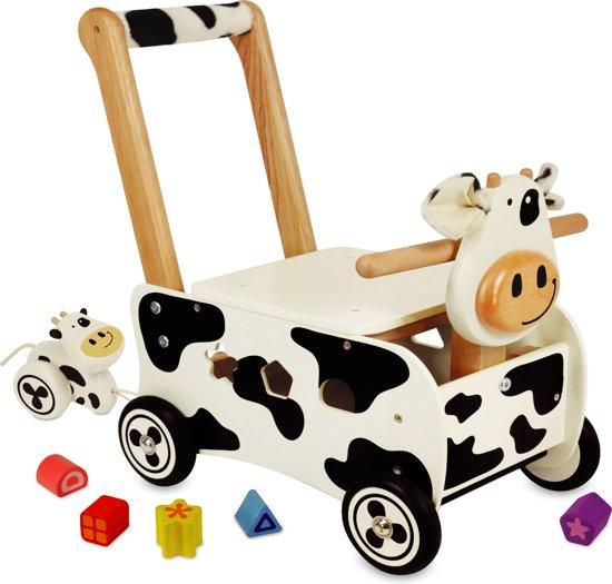 Afbeelding van Loop- en Duwwagen Koe speelgoed