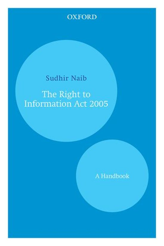 The Right to Information Act 2005