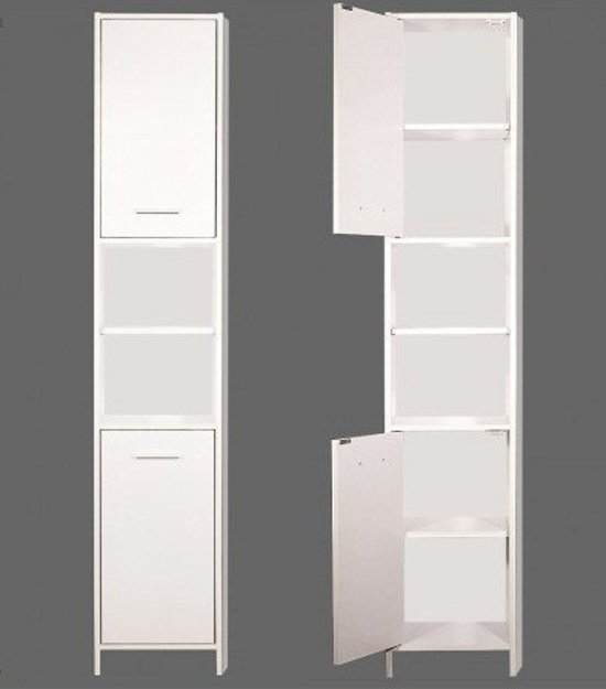 bol.com | Badkamerkast met legplanken afm. 185 x 30 x 30 cm
