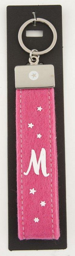 Sleutelhanger Vilt M roze