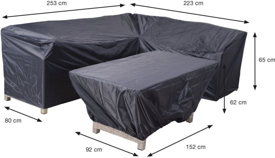 Garden Impressions - Coverit - lounge / dining hoes -223/253x80xH65 & 152x92xH62
