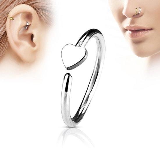 Helix piercing hoop ring hartje