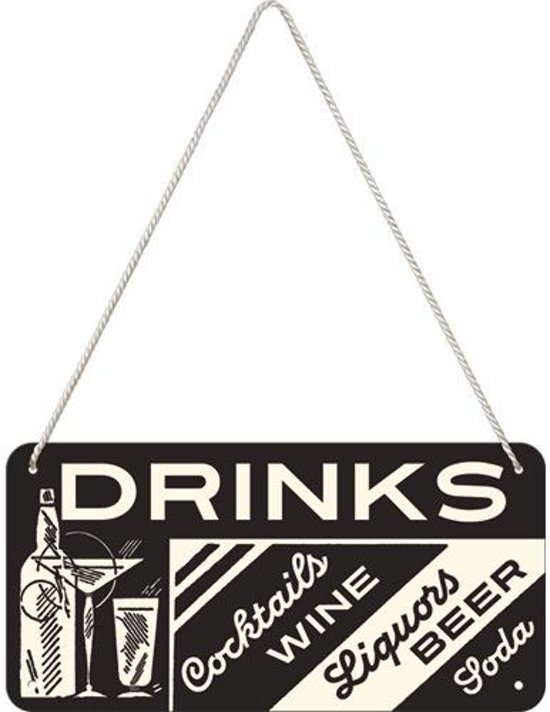 Nostalgic Art Metalen bord Hanging Drinks