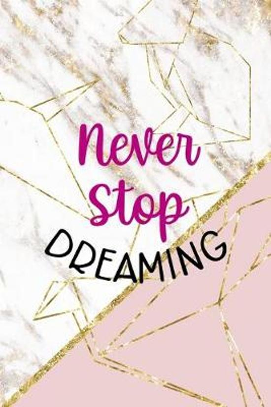 Never Stop Dreaming: Origami Notebook Journal Composition Blank Lined Diary Notepad 120 Pages Paperback Pink Marble