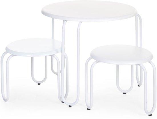 Bol.com childwood ironwood ronde tafel 2 stoeltjes wit