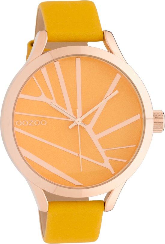 OOZOO Timepieces Geel horloge  (43 mm) - Geel