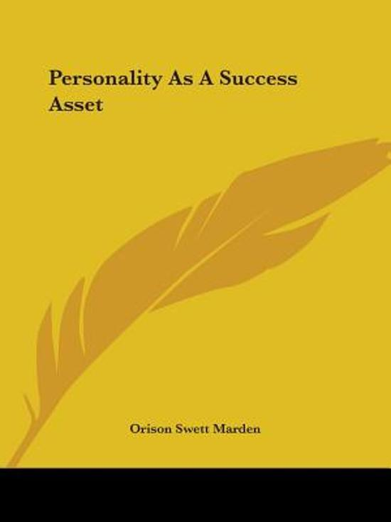 Personality as a Success Asset