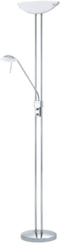 EGLO Baya - Vloerlamp  - Chroom - Wit glas