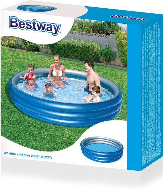Bestway Kinderzwembad Big Metallic 249 X 53 Cm Blauw