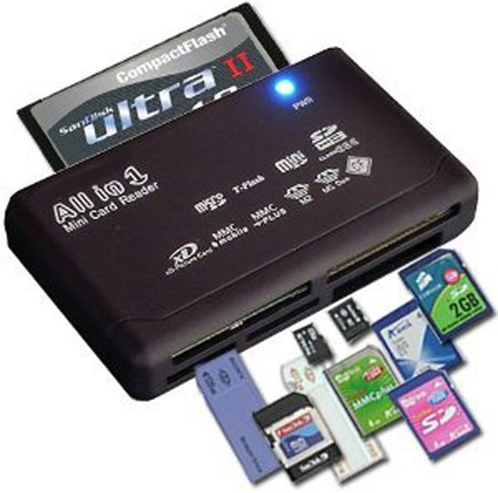 All In One USB 2.0 Geheugenkaartlezer CF/MS/TF/M2/(micro)SD Kaartlezer - Memory Card Kaart Reader - PC & Mac